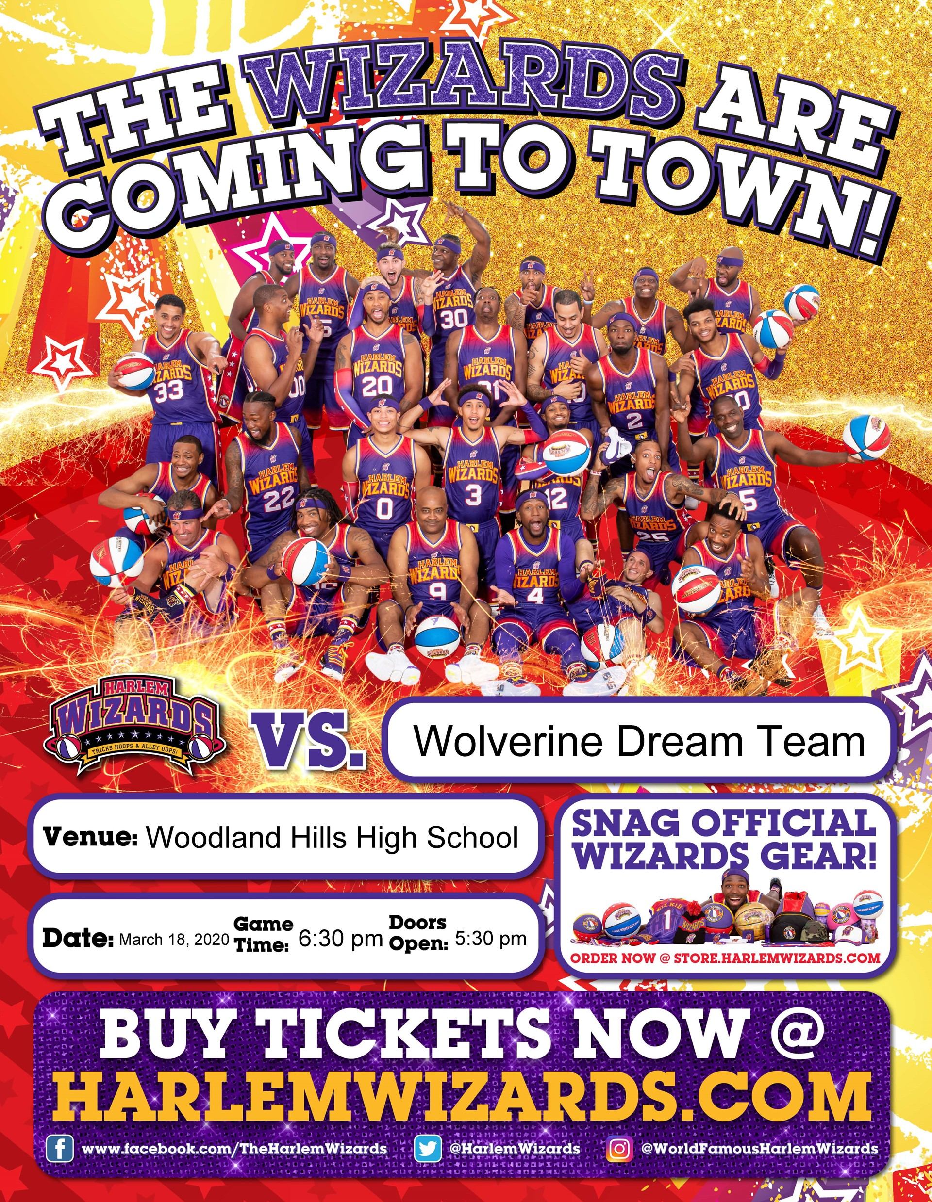 Harlem Wizards VS Wolverine Dream Team