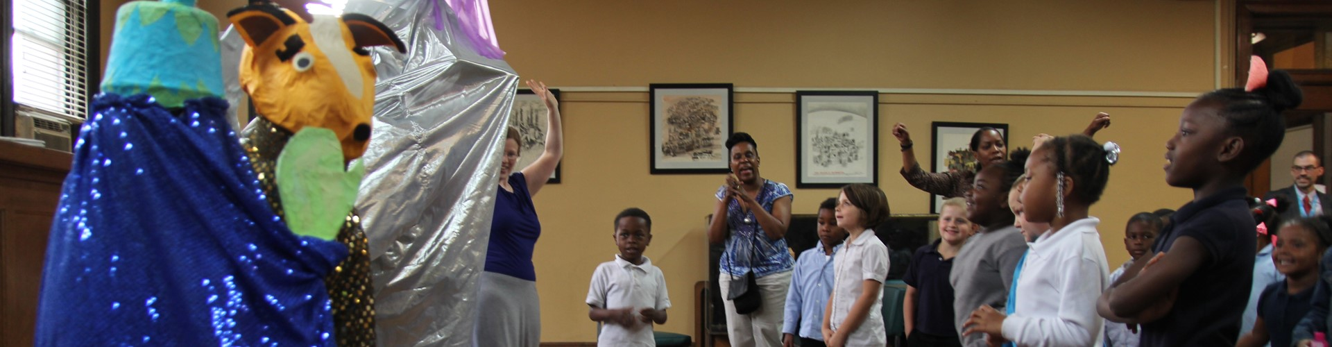 Wilkins KG visits the Braddock Carnegie Library