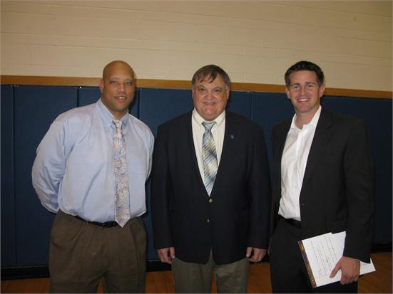 Clearview Rep, Coach Novak, WTAE Sports Anchor John Meyer