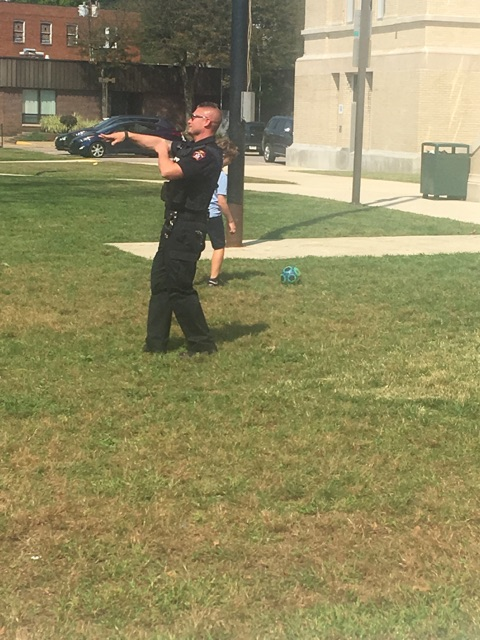 Turtle Creek Police came for recess!